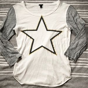 NWOT J. Crew Star Baseball T-Shirt
